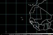 METEOSAT-9 Eastern Atlantic satellite image (Visible)