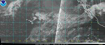 GOES-West Central/Eastern Pacific satellite image (Visible)