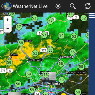 WeatherNet Live map