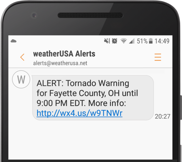 Free Weather Alerts by Text Message and E-mail