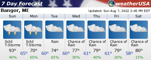 Click for Forecast for Bangor, Maine from weatherUSA.net