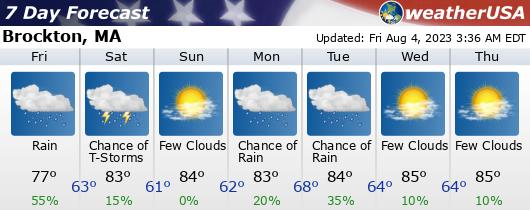 Click for Forecast for Brockton, Massachusetts from weatherUSA.net