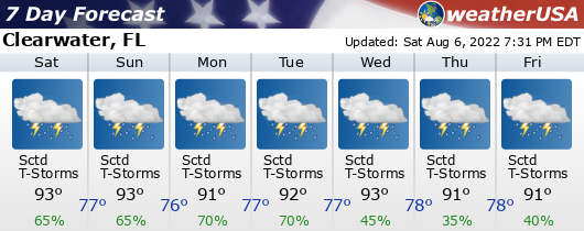 Click for Forecast for Clearwater, Florida from weatherUSA.net