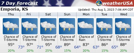 Click for Forecast for Emporia, Kansas from weatherUSA.net