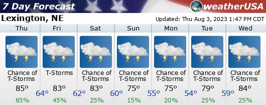 Click for Forecast for Lexington, Nebraska from weatherUSA.net