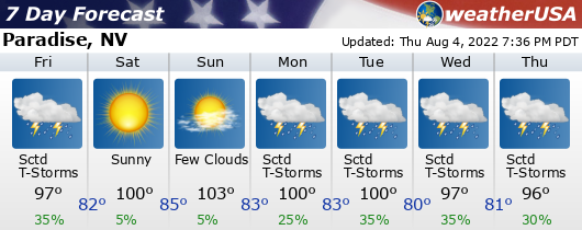 Click for Forecast for Paradise, Nevada from weatherUSA.net