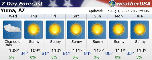 Click for Forecast for Yuma, Arizona from weatherUSA.net