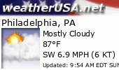 Click for Forecast for philadelphia, pa from weatherUSA